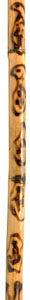 GEWA DIDGERIDOO Kambella, bambusz, lángnyelves, 120cm