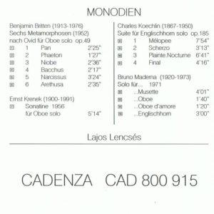 Lajos Lencsés – MONODIEN