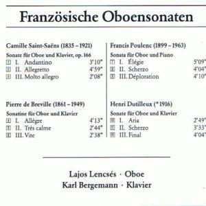 Lencsés Lajos – Franzosische Oboensonaten